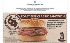 Arby's Goes Way Back for Facebook Promotion