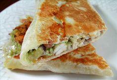 Chicken and Avocado Panini Sandwiches.