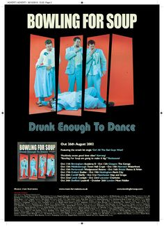Bowling For Soup - Drunk Enough To Dance full page Kerrang ad. Client: Music For Nations. Circa 2002. © Sean Mowle.