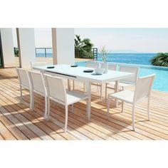 Outdoor Zuo Modern Mayakoba Aluminum Patio Dining Table - 703844