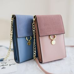 PU Leather Wallet Phone Case Card Solt Chain Strap Vertical Shoulder Bag for iPhone Xiaomi Samsung Sale - Banggood Mobile Tote Handbags, Purses And Handbags, Leather Handbags, Leather Wallet, Pu Leather, Clutch Wallet, Leather Bags Handmade, Leather Accessories, Wallets For Women
