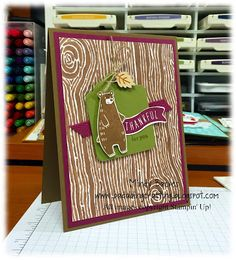 Fab Friday: Fab Friday 73 - SU - Thankful Forest Friends, Acorny Thank You stamp sets