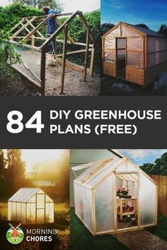 23 free detailed diy garage plans with instructions to actually 84 free diy greenhouse plans to help you build one in your garden this weekend solutioingenieria Choice Image