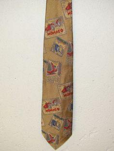 Robert Talbott Nordstrom Grand Prix MONACO BROOKLANDS Silk Neck Necktie Tie 58in #RobertTalbott #Tie