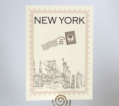 Postage Stamp Travel Theme Table Number Cards by WeddingMonograms