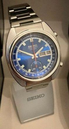 Seiko, Stainless Steel Case, Chronograph, Watches, Wristwatches, Clocks
