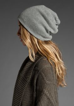 Cashmere beanie and knitted cardigan - Winter outfit ideas and street style inspiration - #fashion #style #outfit