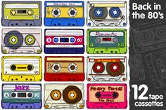 Compact cassettes by Handy Trendy on Creative Market