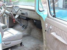 Tri-Five Chevy Truck interior Diy Truck Interior, Best Interior Paint, Interior And Exterior, 57 Chevy Trucks, Gm Trucks, Tow Truck, Chevy 3100, Chevy Pickups, Chevy Apache