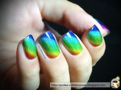 Stunning Holographic Rainbow (Nails by @mylittlecanvas)