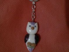 Cold porcelain keychain owl...by: Miriam Rivera