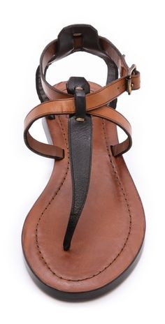 Strappy sandals by frye summer shoes Cute Sandals, T Strap Sandals, Strappy Sandals, Cute Shoes, Leather Sandals, Me Too Shoes, Shoes Sandals, Sandals Outfit, Brown Sandals