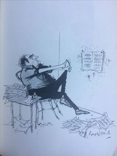 From The Penguin book of 'Ronald Searle', a great selection of his illustrations, incredibly witty as usual.