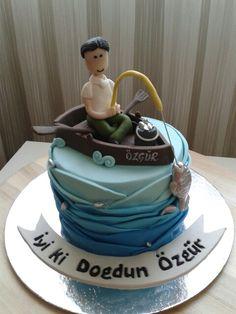 Gone fishing birthday cake Fishing themed birthday cake Fishing