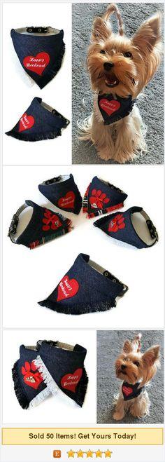 Small #dog collar #bandana Small dog outfit Denim dog bandana Girl dog gift Summer dog bandana Cute dog bandana Cool dog gifts Gift for dog https://www.etsy.com/SmallDogFashion/listing/541252548/small-dog-collar-bandana-small-dog?ref=shop_home_active_1