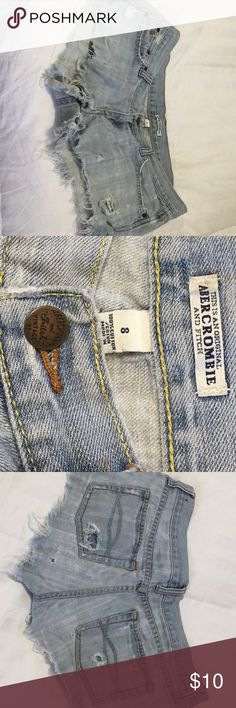 ☀️Abercrombie and Fitch shorts Abercrombie and Fitch distressed shorts, holes/rips as shown in pics are deliberate for distressed look. First picture is of similar shorts to give an idea of style and fit. Pictures 2-7 are actual shorts being sold. Abercrombie and Fitch Shorts Jean Shorts
