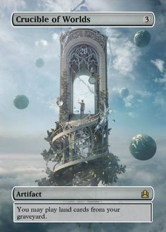 Crucible of Worlds MTG Full Art Foil Proxy - Magic the Gathering EDH