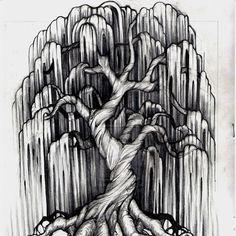 30 Beautiful Tree Drawings and creative Art Ideas from top artists – Tattoo Sketches & Tattoo Drawings Hai Tattoos, Foot Tattoos, Body Art Tattoos, Tattoo Drawings, Girl Tattoos, Tree Drawings, Tattoo Thigh, Sketch Tattoo, Wrist Tattoos