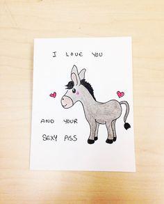Funny Valentine Card Valentines day card I love by LoveNCreativity