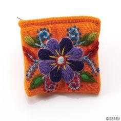 Orange Floral Coin Purse | SERRV