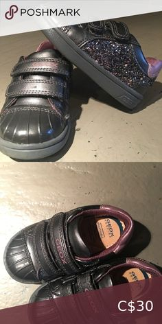 COPY - Geox Toddler Shoes Geox Toddler Shoes Gray pink and sparkly Hardly used as you can see in picture Geox Shoes Baby & Walker