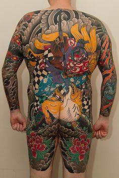 Oriental full body tattoo by Swallow Tail Tattoo