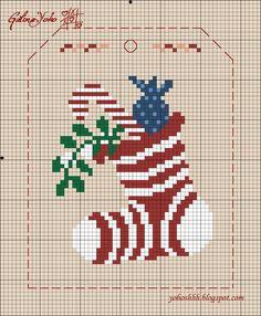 Крестики без ноликов.: Новогодняя гирлянда 3 / Christmas garland 3