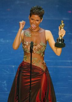 Halle Berry | 18 Black Women Breaking Boundaries In The 21st Century Halle Berry kicked off 2002 by becoming the first black woman to win an Oscar for Best Actress for her role in Monster's Ball.