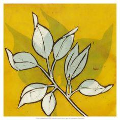 World Art Group, Gold Batik Botanical I, Andrea Davis