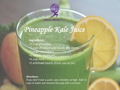 This Pineapple Kale Juice is so yummy!  Follow @MindBodyChi on FB http://www.facebook.com/AMBTotalFitness?bookmark_t=page on they have the best fitness and nutrition advice!