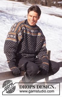 DROPS 52-17 - DROPS Cardigan in Karisma Superwash with snowflakes - Free pattern by DROPS Design