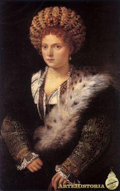 Tiziano, Retrato de Isabella d' Este. 1534 Kunsthistorisches Museum