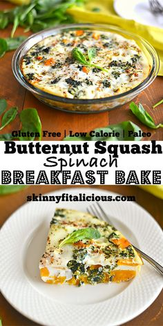 Butternut Squash Spinach Breakfast Bake