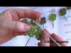 This is a simple and quick tutorial on how to crochet a 4-Leaf Clover, in only about 5 minutes. This is an original design by me. With only basic skills you can have fun and create this 4 Leaf Clover! Enjoy.