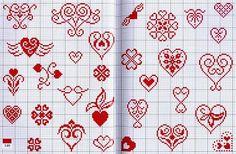Artes da Nique: Gráficos em ponto cruz - coração