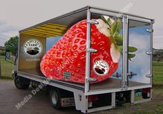 delivery truck branding | ... incorporating the side and the rear of the truck as one focal point