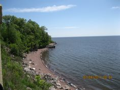 Lake Superior.    Took this when I was on the platform above the Lake Walk. This is along the North Shore.