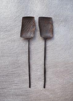 By Marie Ekllund. Glass Design, Wood Design, Wooden Ladle, Copper Work, Wooden Chopping Boards, Concrete Wood, Wood Spoon, Wooden Kitchen, Wooden Crafts