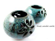 Pottery bud vase ceramic christmas gift candle by Ningswonderworld