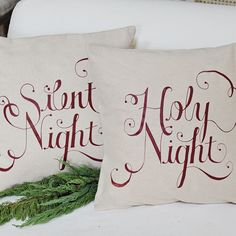 Silent Night Pillow Cover Set