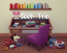 http://alicia7tommy.tumblr.com/post/134667494778/hamburgercakes-book-trio-i-love-book-clutter-i