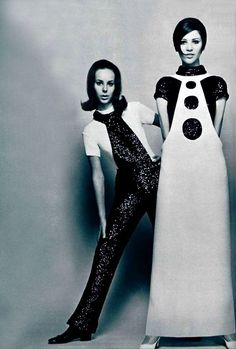 Fashions by Pierre Cardin, 1960s.