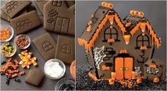 Halloween gingerbread house (pre-made) Williams-Sonoma
