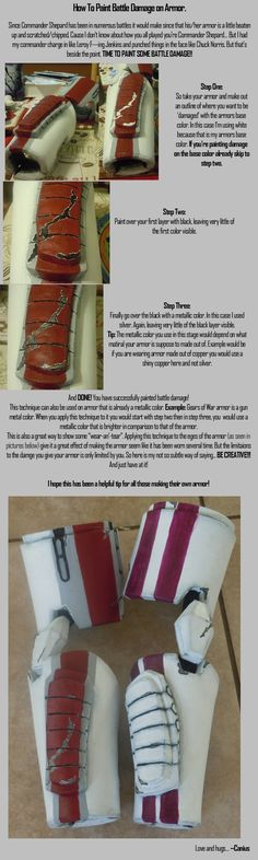 How to Paint Battle Damage on Armor by ~canius on deviantART