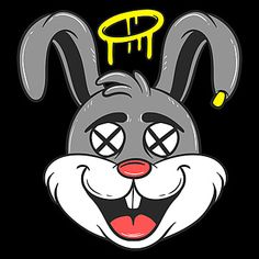 Dead Rabbit Cartoon, Character Cartoon, Clothing, Logo Design PNG Transparent Clipart Image and PSD File for Free Download
