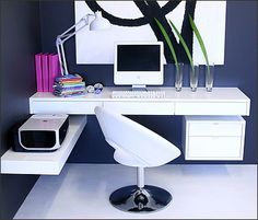 Floating desks with drawers