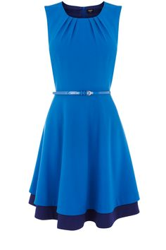 Love this pretty blue dress from Oasis, especially the darker blue underskirt