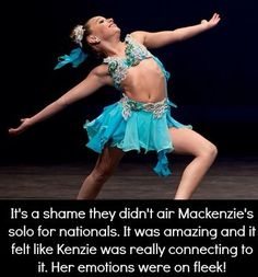 I haven't seen the actual video but I saw her perform it at the ALDC LA grand opening Dance Moms Memes, Dance Moms Costumes, Dance Moms Funny, Dance Moms Facts, Dance Moms Dancers, Dance Mums, Dance Moms Girls, Mackenzie Ziegler Solos, Dance Moms Confessions
