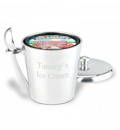 Engraved Ice Cream Bucket with Scoop
