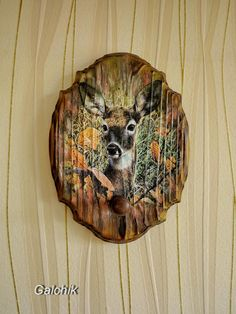 image 1 260×1 680 пикс Decoupage, Wood Burning Crafts, Pallet Art, Wood Slices, House In The Woods, Rock Art, Painting On Wood, Painting Inspiration, Painted Rocks